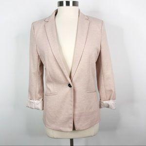 H&M Heathered Pink Jersey Blazer Jacket Size 10